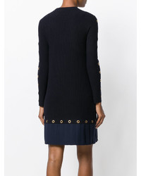 Tory Burch Cut Detail Fitted Knitted Dress