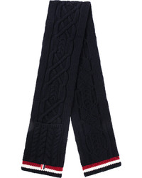 Thom Browne Knitted Pattern Scarf