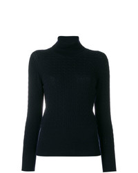 Thom Browne Baby Cable Turtleneck In Fine Merino Wool