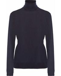 Stella McCartney Wool Turtleneck Sweater Navy