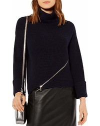 Karen Millen Zip Detail Turtleneck Sweater