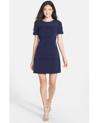 522abe22cac ... Jessica Simpson Lace Inset Short Sleeve Shift Dress ...