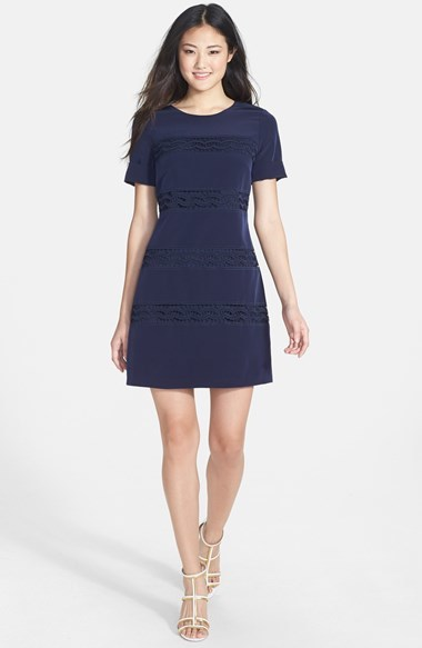 593be2138df Jessica Simpson Lace Inset Short Sleeve Shift Dress