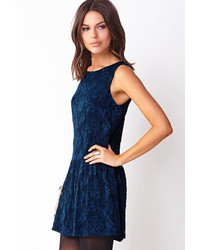 Navy lace dress forever 21