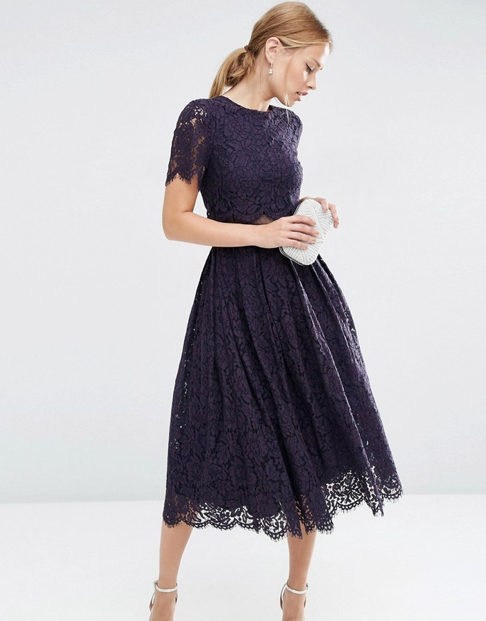 Asos Lace Crop Top Midi Prom Dress Where To Buy How To Wear