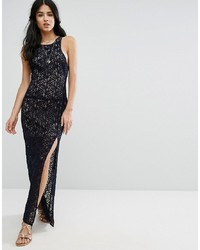 Free People Lace Column Maxi Party Dress