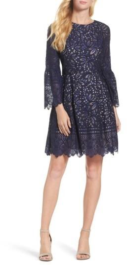 ba3ff9f263f3 Eliza J Petite Lace Fit Flare Dress, $158   Nordstrom   Lookastic.com
