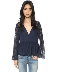 Lija blouse with lace sleeves medium 446858