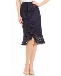 Antonio Melani Carlise Embroidered Lace Pencil Skirt