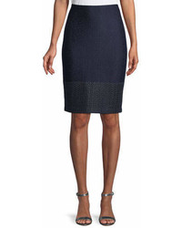 St. John Collection Caris Knit Pencil Skirt