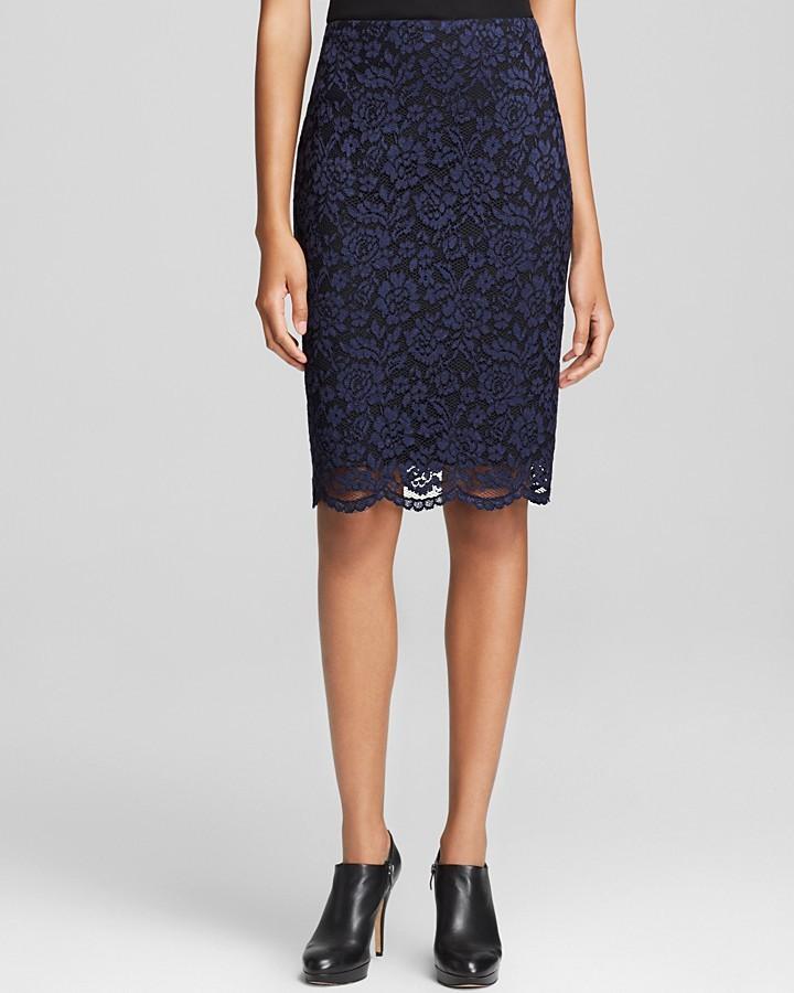 Vince Camuto Floral Lace Pencil Skirt