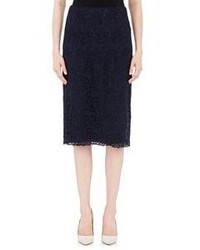 Nina Ricci Guipure Lace Pencil Skirt Blue