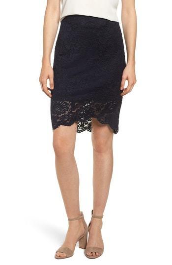 Rosemunde Lace Pencil Skirt