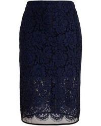 MSGM Floral Lace Pencil Skirt