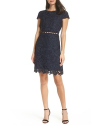 Sam Edelman Cap Sleeve Lace Sheath Dress