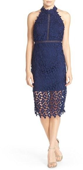 Bardot Gemma Halter Lace Sheath Dress | Where to buy & how to wear