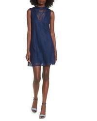 Illusion lace shift dress medium 3768659