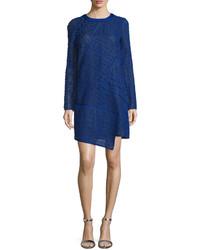 Long sleeve lace shift dress imperial bluenoir medium 526334
