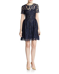 Lace fit and flare dress medium 213967