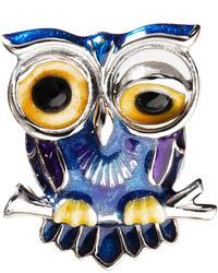 Jan Leslie Winking Owl Lapel Pin