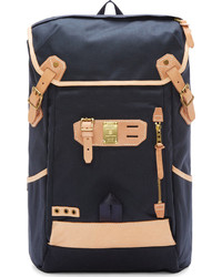 Master piece co navy canvas leather surpass cargo rucksack medium 292726