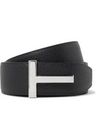 Tom Ford 4cm Black And Midnight Blue Reversible Full Grain Leather Belt