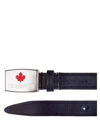 DSquared Logo Buckle Leather Belt