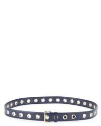 Salvatore Ferragamo Leather Eyelet Belt