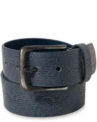 Armani Jeans Logo Leather Belt