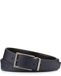 Giorgio Armani Reversible Leather Belt Blueblack