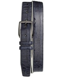 Mezlan Saratoga Genuine Crocodile Leather Belt
