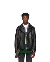 Acne Studios Acne S Black Leather Nate Clean Jacket
