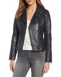 LaMarque Asymmetrical Zip Leather Biker Jacket