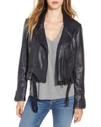 Blank NYC Blanknyc Faux Leather Crop Moto Jacket