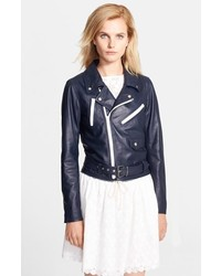 Band Of Outsiders Multi Zipper Leather Moto Jacket