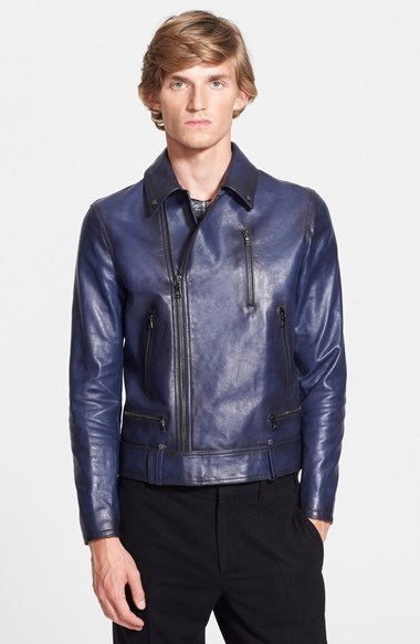 Neil Barrett Leather Biker Short Jacket | Where to buy &amp how to wear