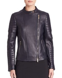 BOSS Sahena Leather Moto Jacket