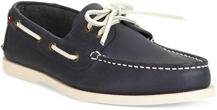 dbcd6c9c0 Men s Fashion › Footwear › Boat Shoes › Macy s › Tommy Hilfiger › Navy  Leather Boat Shoes Tommy Hilfiger Bowman Boat Shoes Shoes ...
