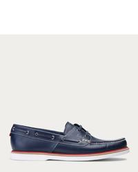 Bally Gabel Dark Navy Leather Boat Shoe