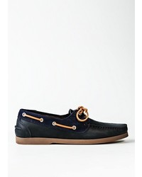 Mango Leather Boat Shoes