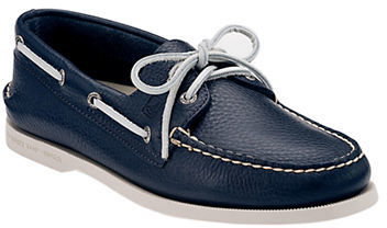 ... Sperry Navy A O 2 Eye Leather Boat Shoe Smart Value