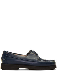 A.P.C. Navy Basile Boat Shoes