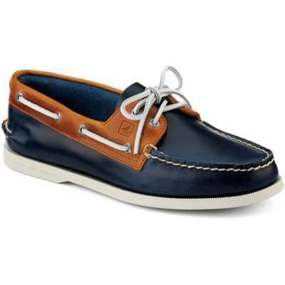 Sperry Topsider Leather Boat Shoes In Navy new cheap online cheap sale amazon uBeZ51Re