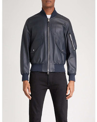 Burberry Archer Leather Bomber Jacket