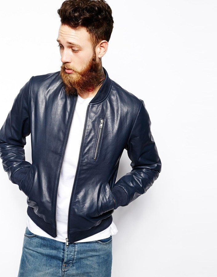 Asos Brand Leather Bomber Jacket | Where to buy & how to wear