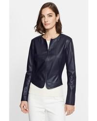 St. John Collection Soft Nappa Leather Jacket