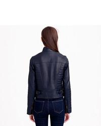 5c06c7419 J.Crew Collection Standing Collar Leather Jacket, $495 | J.Crew ...