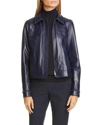 Lafayette 148 New York Destiny Leather Jacket