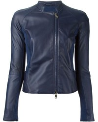 Emporio Armani Leather Panelled Jacket