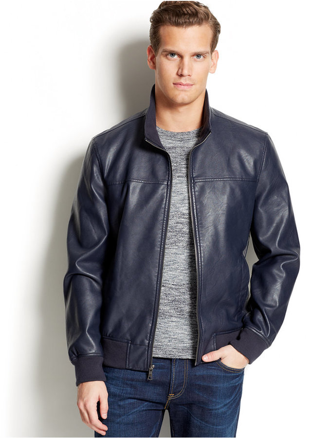 Tommy Hilfiger Faux Leather Bomber Jacket | Where to buy & how to wear